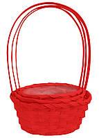 Корзины из лозы (w9023 красные) 32х30 см