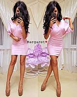 """Женское платье (розовый) """"Margaret""""  42-44 единый"""