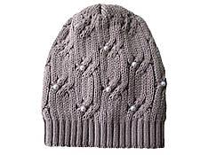 Шапка зимняя женская цвета капучино очень теплая вязка крупная косичка