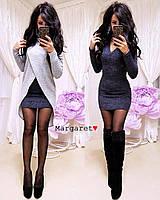 """Женское платье с туникой (синий) """"Margaret""""  S (42-44) и М (44-46)"""