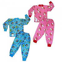 Теплая детская пижама, размеры от 4 до 7 лет