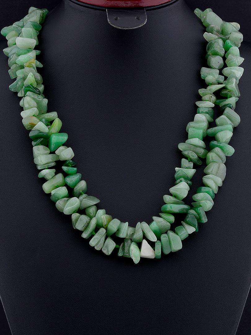 Украшения из натурального камня зеленые