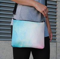 """Женская сумка через плечо """"Градиент red-blue"""""""