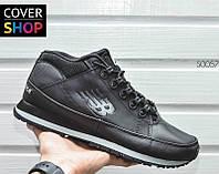 Зимние мужские кроссовки New Balance 754 - Original, цвет - черный, материал - кожа, подошва - пенка