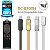 USB кабель Remax Gplex 3 in 1 RC-070th Lightning & Micro USB & Type-C 1m, фото 2