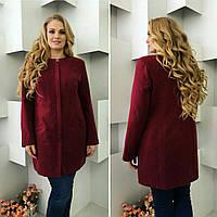 Женское кашемировое пальто с подкладкой на синтепоне СУПЕРБАТАЛ, фото 1