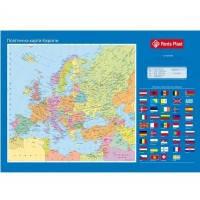 Подложка на стол 590x415мм PVC Карта Европы PANTA PLAST 0318-0037-99