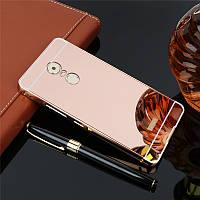 Чехол для Lenovo K6 Note зеркальный розовый