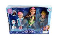 Кукла Frozen BX032-1 (1359928) (48шт/3) Анна,ЭльзКрис, олен Свен, снеговик Олаф,  в кор.32*7*22см