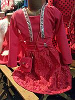 Детское нарядное платье с болеро для девочки