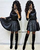 """Женское платье с карманами,  юбочка очень пышная (черный) """"Margaret""""  42-44 единый"""
