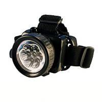 LED фонарь налобный для дома, работы и природы, 539 7С, на 3 ААА