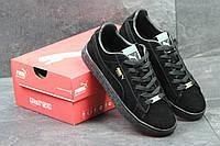 Кроссовки Puma Suede мужские (черные), ТОП-реплика, фото 1
