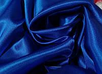 Ткань Креп-Сатин Темный электрик