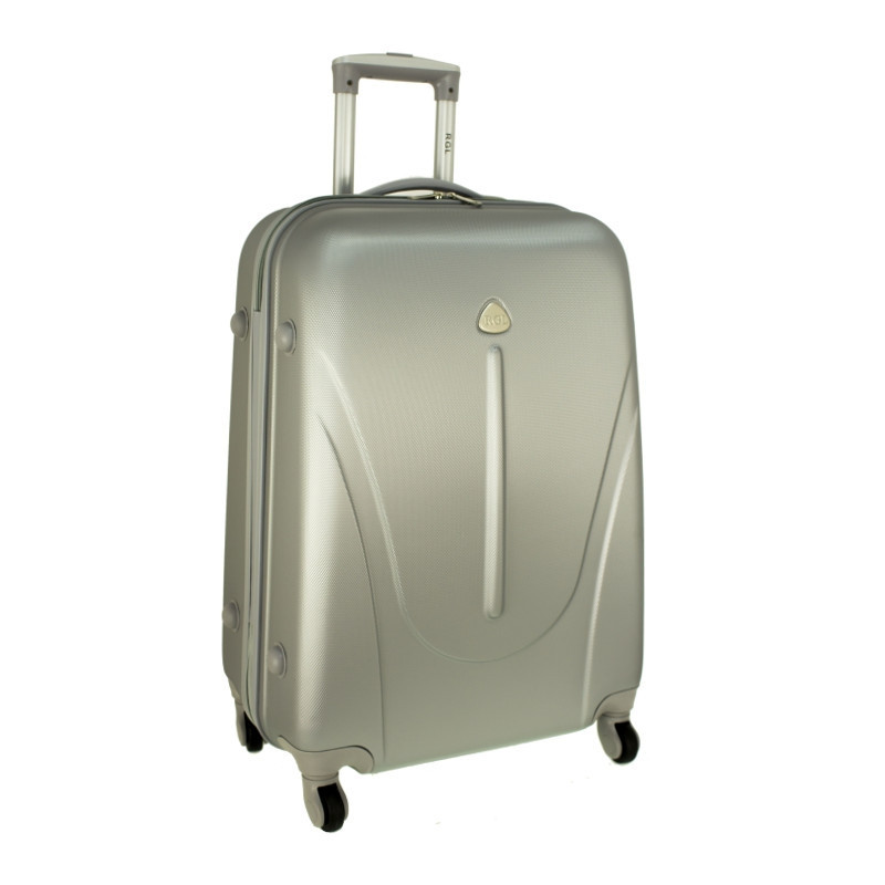 Чемодан сумка 882 XXL (небольшой) серебряный