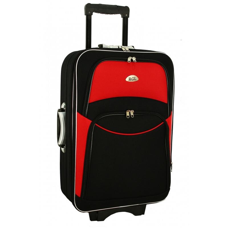 Чемодан сумка 773 (небольшой) черно-красный
