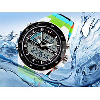 Часы наручные спортивные Skmei 1016 S-SHOCK Blue Colorful