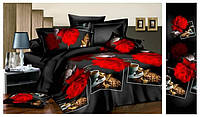 Двуспальный  постельный комплект Роза и кофе