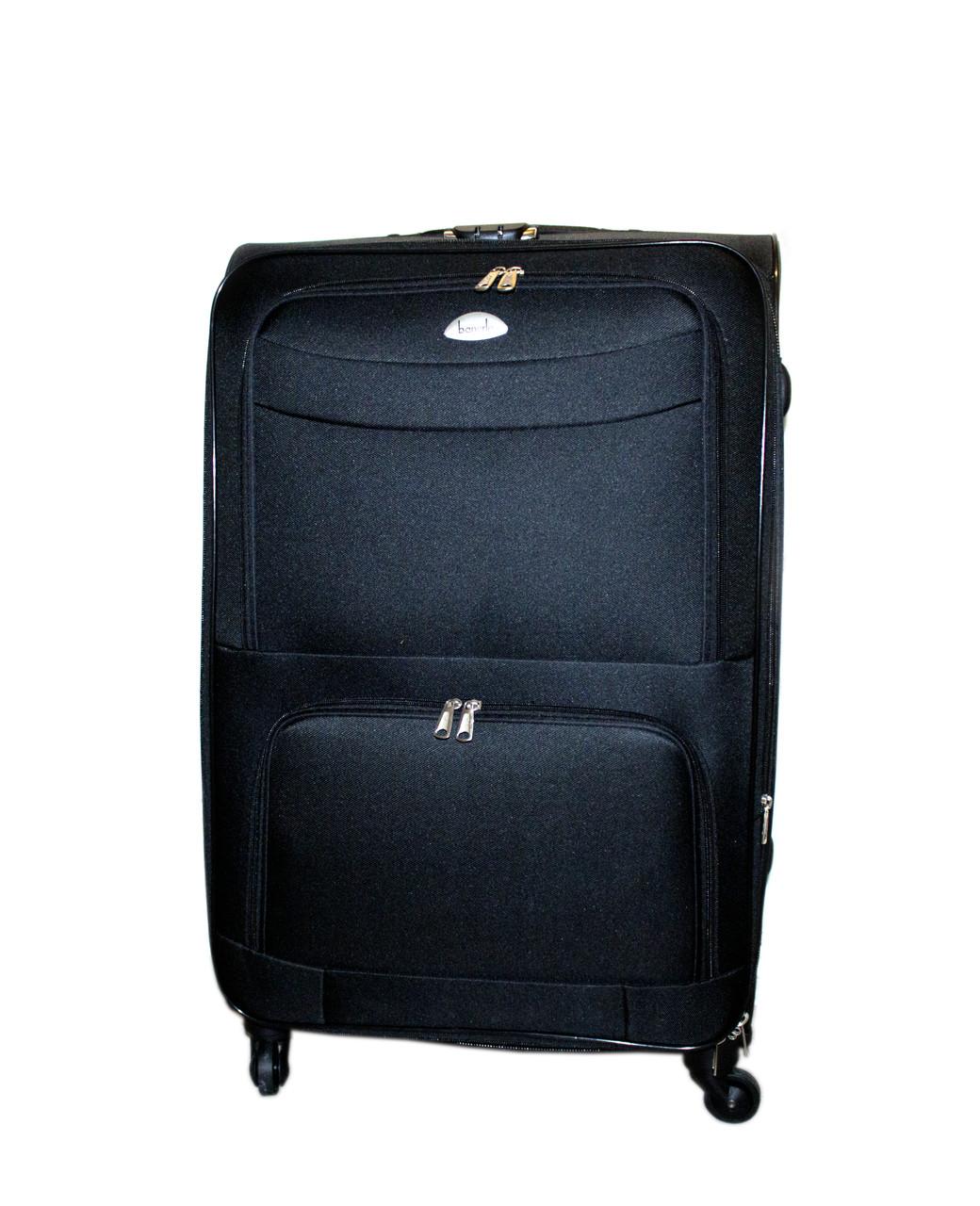 Дорожный чемодан 4 колеса (большой) чёрный, артикул: 6-240