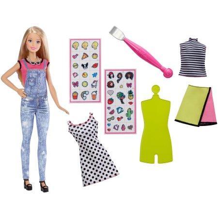 Кукла Барби Эмоджи дизайнер Barbie D.I.Y. Emoji Style Doll Set Blonde Hair