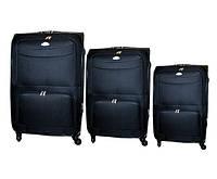 Дорожный чемодан 4 колеса набор 3 штуки чёрный, артикул: 6-240
