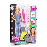 Кукла Барби Эмоджи дизайнер Barbie D.I.Y. Emoji Style Doll Set Blonde Hair, фото 4