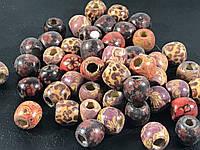 Деревянные бусины микс 5 видов 11 мм упаковка 50шт