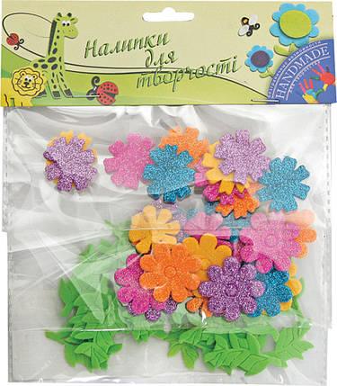 """Наклейки для творчества """"1 Вересня"""" """"Цветы"""" 55шт. 950202, фото 2"""