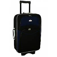 Чемодан сумка 773 (небольшой) черно-т.синий, фото 1