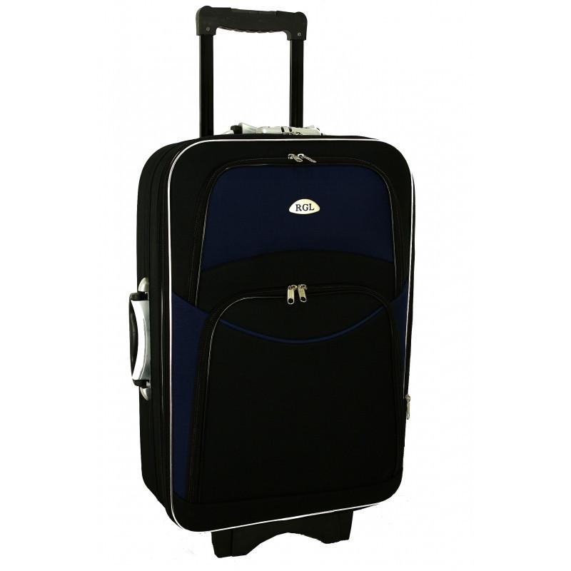 Чемодан сумка 773 (средний) черно-т.синий