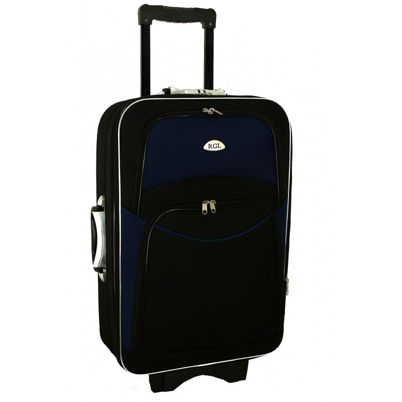 Чемодан сумка 773 (большой) черно-т.синий