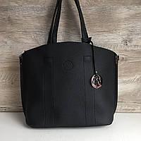 Женская черная стильная сумка , фото 1