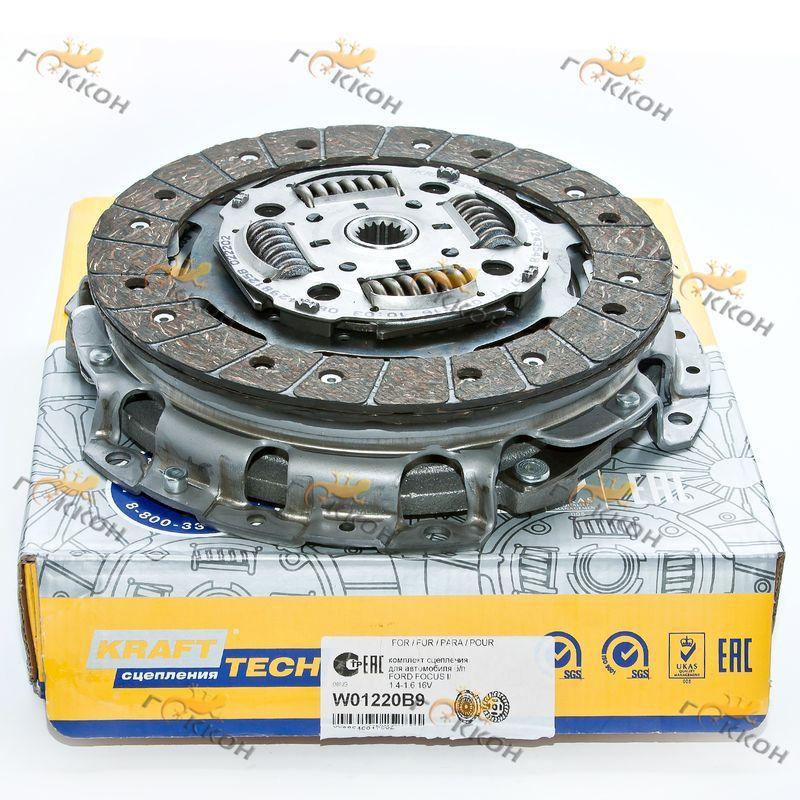 """Комплект сцепления Ford Focus II 1.4-1.6 16V/VOLVO C30, S40 1.6 без подшипников """"Krafttech"""""""