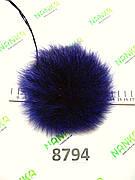 Хутряний помпон Песець, Фіолет, 14 см, 8794