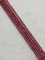 047858 Бусины Гранат 33 см. 2 мм.  фурнитура для рукоделия из натуральных камней