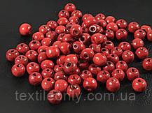 Деревянные бусины красные 7.5 мм упаковка 100 шт, фото 2