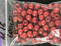 Деревянные бусины красные 7.5 мм упаковка 100 шт, фото 3