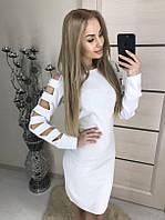 Новогоднее женское платье Джерси , белое !, фото 1