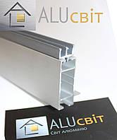 Ш-образный профиль 5мм торговый для витрин и прилавков, для стекла, акрила, ДВП
