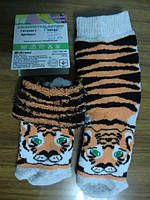 """Носочки детские махровые из хлопка с рисунком """"тигр"""" 14 рр (1 - 2 года)"""