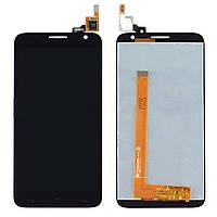 Дисплей (экран) для Alcatel 6050Y One Touch Idol 2S/6050D + с сенсором (тачскрином) черный Оригинал