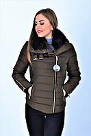 Куртка зимняя/пуховик Pimkie размер S/XS короткая Куртка с мехом