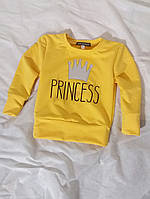 Джемпер з надписом з двонитки жовтий та інші кольори Детская кофта