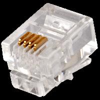 Коннектор LogicPower RJ11-4P4С 100 шт.