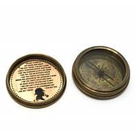 "Компас "";Sherlock Holmes""; бронза (d-6,h-2 см) Код:29288"