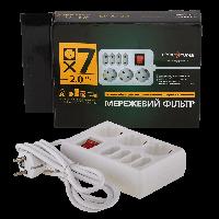 Сетевой фильтр LogicPower LP-X7, 2m, белый