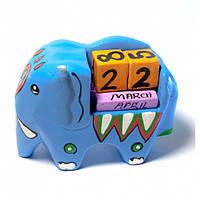 """Календарь настольный """";Слон""""; дерево (10х7х4,5 см) Код:29392"""