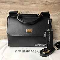 Женская сумка Dolce & Gabbana Miss Sicily чёрная медиум, фото 1