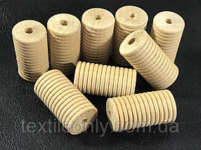 Деревянные заготовки для рукоделия цилиндр с резьбой 35х19 мм
