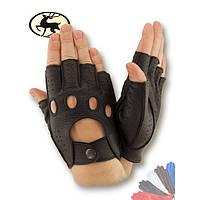 Вело перчатка из натуральной кожи Олень без подкладки модель 245.